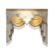 8 Style luxury Valance for curtain top for living room bedroom Buy VALANCE dedicated link/Not including Cloth curtain and tulle