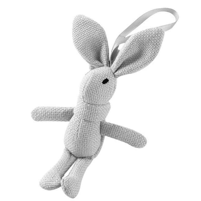 Cute Rabbit Plush Animal Stuffed Dress Rabbit Charms Key Chain Kids Bunny Toy F3ME