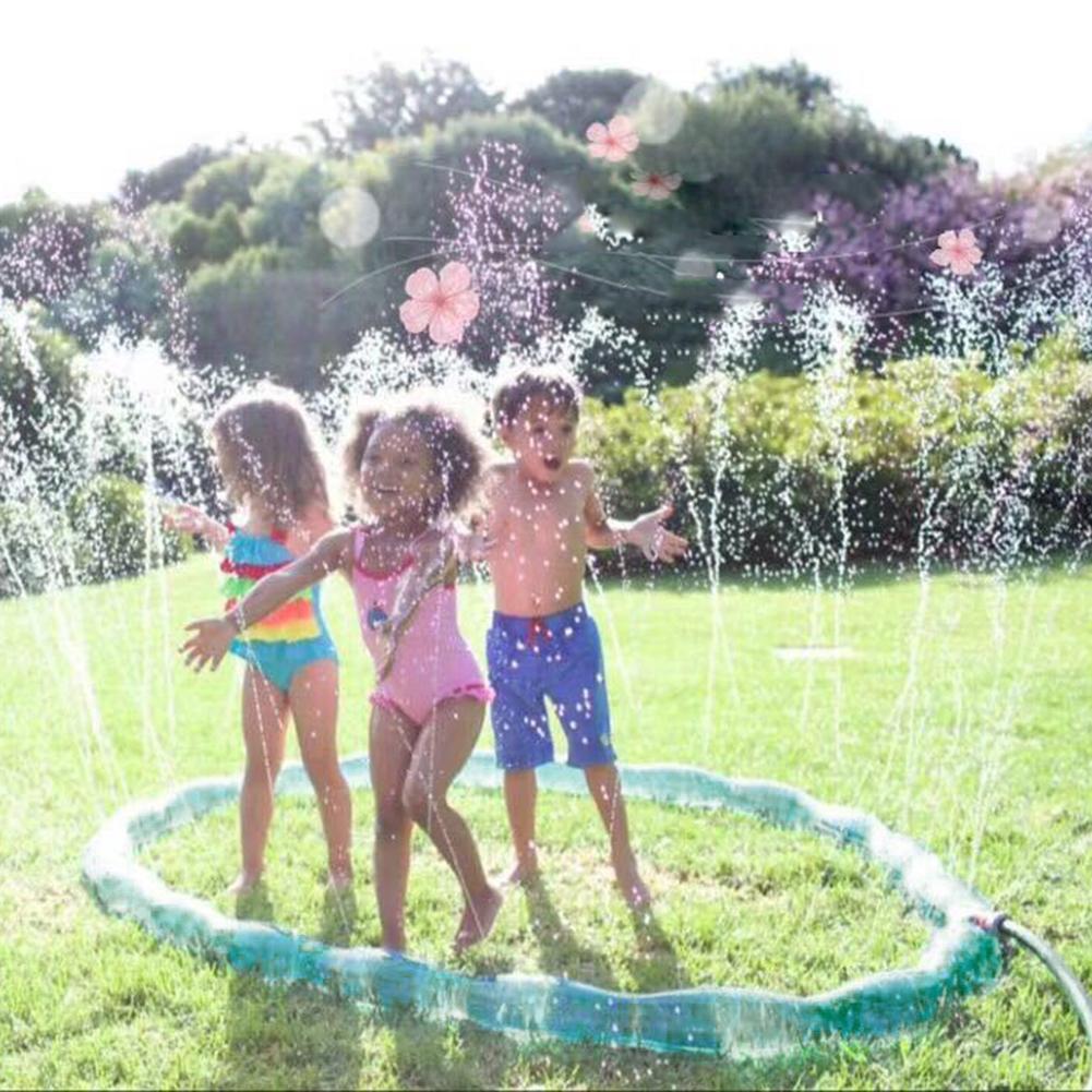 200CM Children Lawn Sprinkler Hoop Ring PVC All-round Cooling Water Splash Toy Garden Outdoor Toy