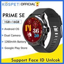 KOSPET Prime SE 1GB 16GB Relogio Inteligente Smart Watch Men สมาร์ท นาฬิกา ผู้ชาย 1260MAh กล้อง 1.6inch Dual Camers Face ID 4G Android WIFI Bluetooth GPS Smartwatch 2020 สำหรับ Xiaomi Huawei Apple Phone นาฬิกาสมาร์ท