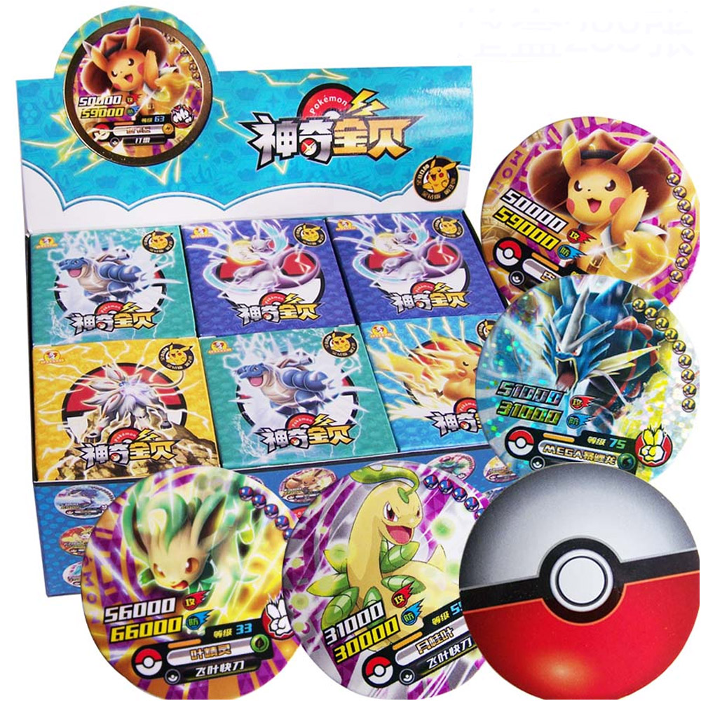 Takara Tomy jeu TCG cartes Pokemon Collections Flash brillant cartes 288 pièces/ensemble 12 cartes/boîte
