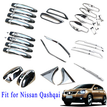 Chrome Accessories Fog Lamp Door Hand Rear View Mirror Grille Cover Trim  Fit For Nissan Qashqai J11 2015 2016 2017 2018 2019 chrome door handle protect cover fit for nissan qashqai j11 rogue sport accessories 2014 2015 2106 2017 2018 2019