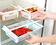 Adjustable Stretchable Refrigerator Organizer Drawer Basket Refrigerator Pull-out Drawers Fresh Spacer Layer Storage Rack