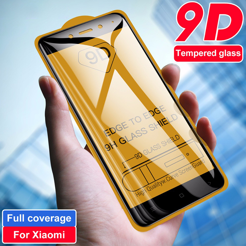 9D Coverage Full Coverage Tempered Glass For Redmi 4X 5A 6A 5 Plus 6 Pro 7 All Glue Screen Protector For Redmi  Go S2 Y2 Y3