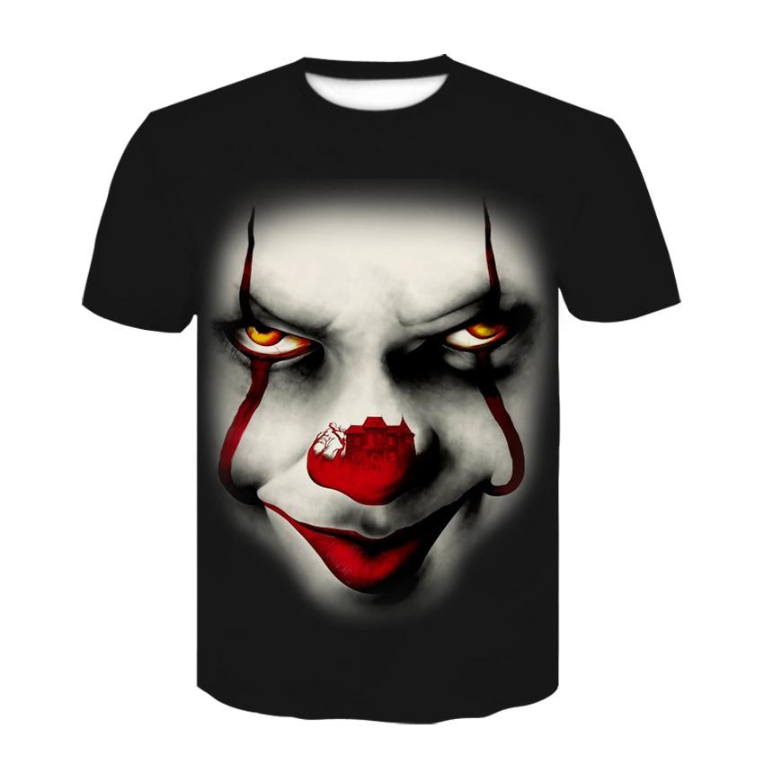 Halloween Clown Men's Joker 3D Printed tshirt Summer Round Neck Casual Breathable t shirt Comic Pranks Hip-hop short sleeve