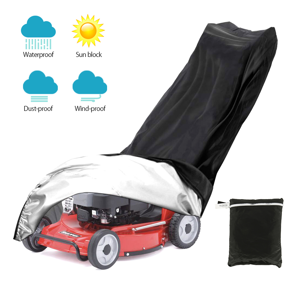 Waterproof Lawn Mower Cover Tractor Grill Cover 191cmx100cmx50cm UV Protection Garden Yard Mower Overlay All-Purpose Covers