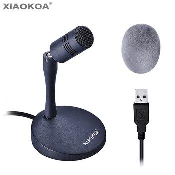 Micrófono de conferencia condensador USB XIAOKOA para ordenador Compatible con Windows/PC y Mac para chatear videojuegos y grabar micrófono de estudio