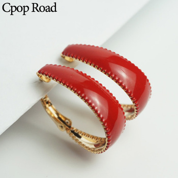 Cpop Red Gold Small Hoop Earrings for Women Circle Earrings Fashion Jewelry Hoops New Trendy Female.jpg 350x350 - Cpop Red Gold Small Hoop Earrings for Women Circle Earrings Fashion Jewelry Hoops New Trendy Female  Accessories Gifts Wholesale