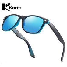 лучшая цена Korto Polarized Sunglasses Men Reflective Coating Square Sun Glasses Blue Women Brand Designer Mirrored Oculos De Sol Zonnebril