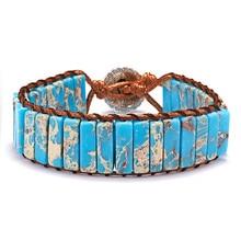 Модный женский браслет плетение из искусственной кожи Национальный Стиль Браслет ручные аксессуары Декор BB55