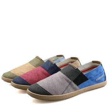 Zapatos sencillos de lona informales para Hombre, Alpargatas masculinas de estilo Retro,...