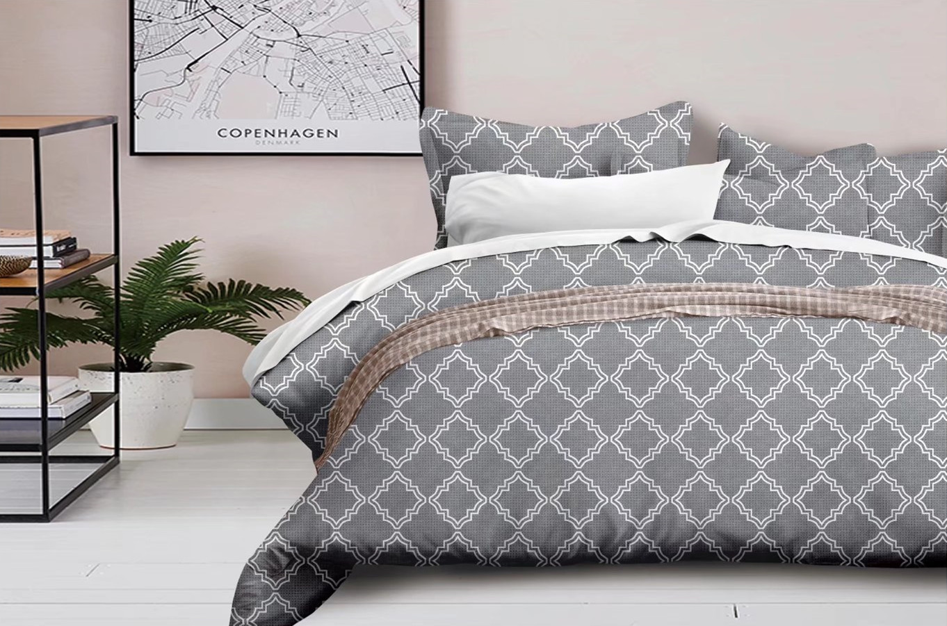 New Style  Hot Sales Bedding Article Geometry Abstract-Quilt Cover Pillow Case Non-Bedding Set