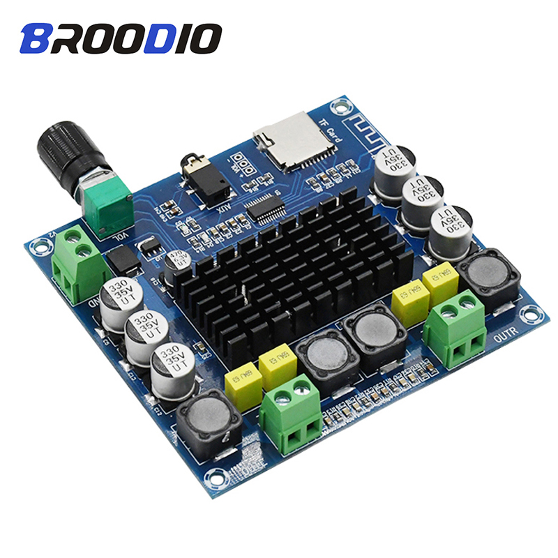 cheapest TDA7498 Bluetooth Amplifier Board Dual Channel 2x100W Digital Audio Class D Stereo Amplifiers Support TF Card AUX Home Theater