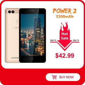 "LEAGOO POWER 2 Face ID Fingerprint Smartphone 2GB+16GB Dual Camera 3200mAh Android 8.1 MT6580A Quad Core 5.0"" HD Mobile Phone(China)"