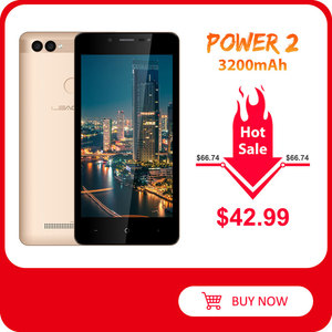 "Image 1 - Leagoo Power 2 Gezicht Id Vingerafdruk Smartphone 2Gb + 16Gb Dual Camera 3200Mah Android 8.1 MT6580A Quad core 5.0 ""Hd Mobiele Telefoon"