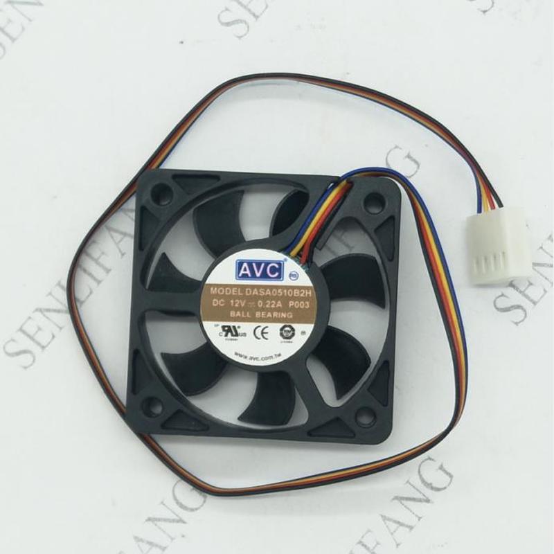 For DASA0510B2H 5010 12V 0.22A 5CM 50*50*10mm 4 Line PWM Temperature Control Silent Fan