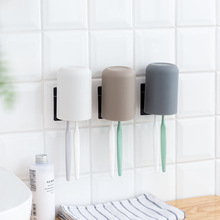 Wall-mounted Toothbrush Holder Environmentally Plastic Wash Cup Thickened Round Toothbrush Cup Bathroom Toothbrush Stand household wash cup couple s toothbrush cup plastic creative simple mouth cup tooth mug toothbrush case