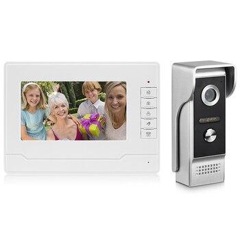 7 дюймов видео кабель для домофона дома видео система контроля доступа водонепроницаемый дождь инфракрасная камера двухсторонний аудио, с ...