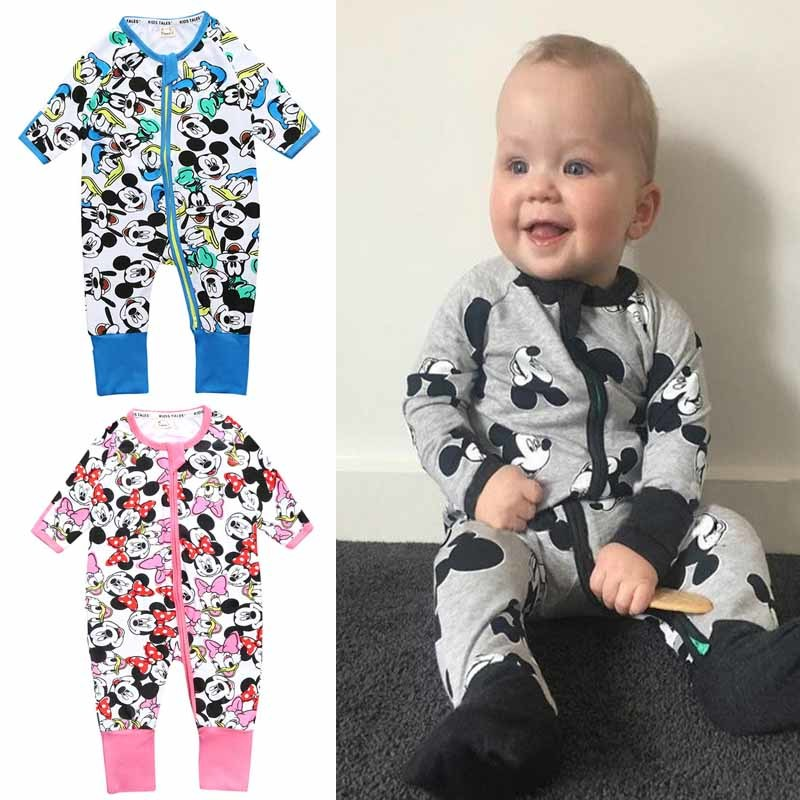 Mickey Baby Boy Clothing Minnie Infant Jumpsuit Disney Baby Girls Clothes New Fashion Outfits Boutique Kids Clothing Stores