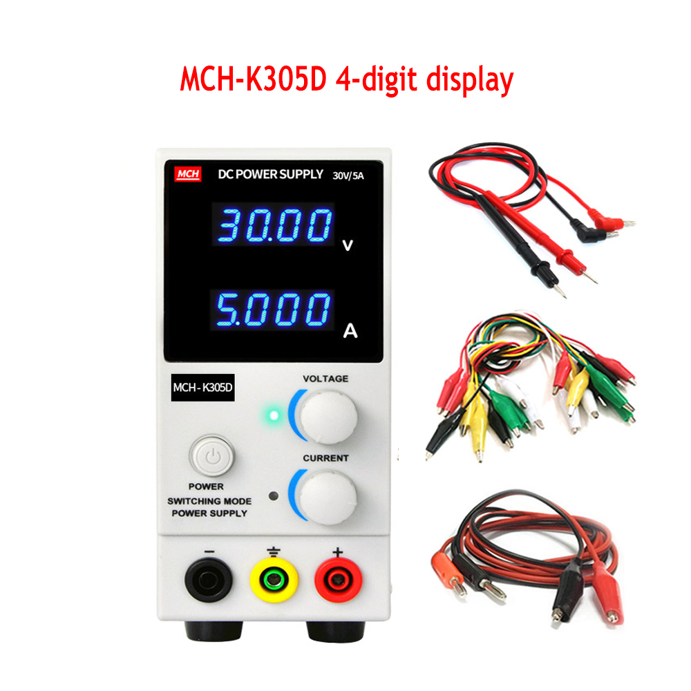 New DCAdjustable Power Supply High Precision 4digit display For Laboratory Test Mobile Phone Repair Test Power Voltage Regulator image