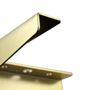 Image 2 - 4 szt. Podłogi meble metalowe nogi kwadratowe szafki stół z drewna nogi złoto na sofę stopy stóp łóżko Riser akcesoria meblowe