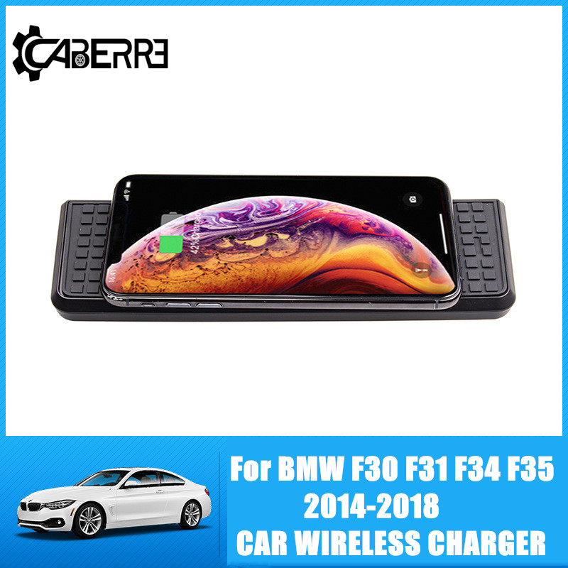 10W QI Wireless Charger Quick Charging For BMW F30 F31 F34 F35 2014-2018 Fast Charger PanelPhoneHolder 2014 2015 2016 2017 2018