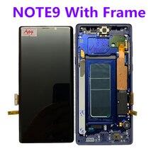 Met Frame Originele Amoled Voor Samsung Galaxy NOTE9 N960A N960U N960F N960V Lcd scherm Touch Screen Assembly Met Stippen