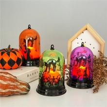 DROPSHIPPING Halloween Decoration Pumpkin Light Witch Bar KTV Shopping Mall Scene Arrangement Desktop Props