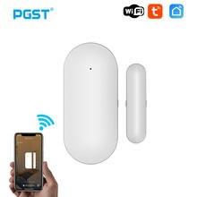 Pgst pb69 tuya casa inteligente wi fi sensor de porta aplicativo notificação janela detector proteção segurança alerta alarme