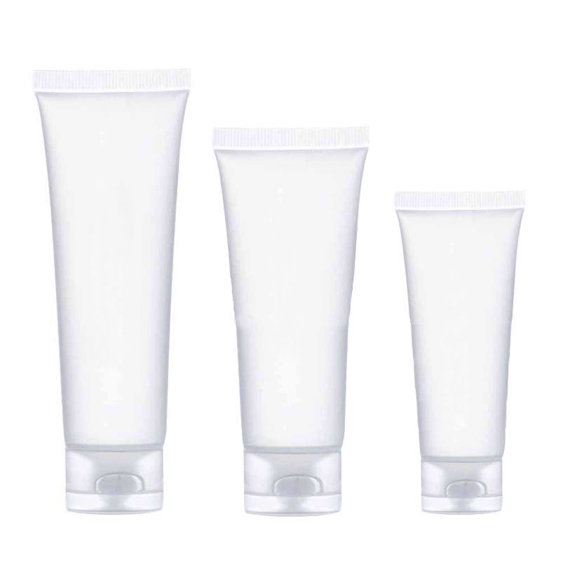 30Pcs Travel Empty Cosmetic Tube 20/30/50/100ml Squeeze Facial Cleansing Container Hand Cream Bottle Lotion Sample Pot Gel Box