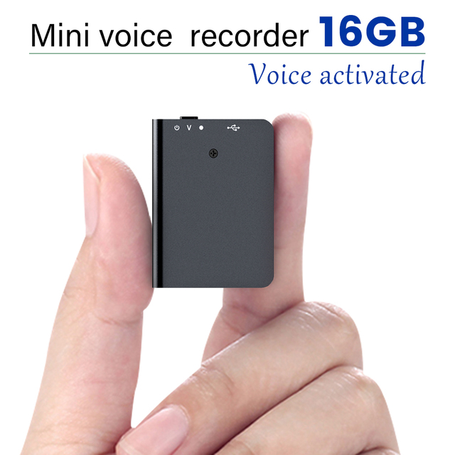 Mini Voice-Recorder Smart USB MP3 Voice Activated Recorder 16GB Digital Audio-Recorder