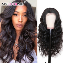 Wig Lace Closure Human-Hair Women Peruvian Body-Wave Pre-Plucked 6x6 MYLOCKME