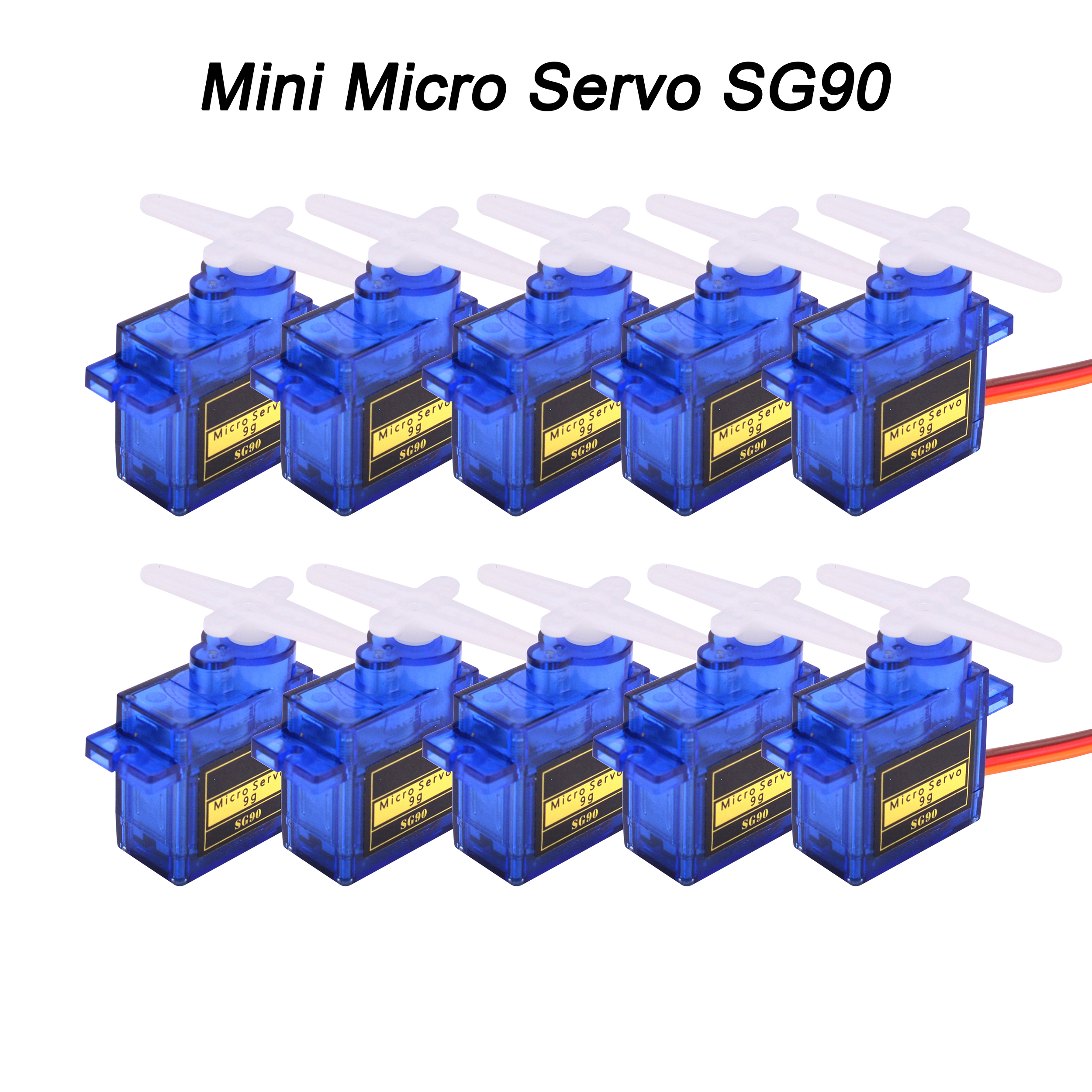 5pcs / 10pcs / 20pcs / 50pcs / 100pcs / 200pcs Lot New SG90 SG 90 9G Mini Micro Servo For RC 250 450 Helicopter Airplane Car RC