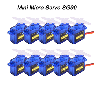 5pcs / 10pcs / 20pcs / 50pcs / 100pcs / 200pcs lot New SG90 SG 90 9G Mini Micro Servo for RC 250 450 Helicopter Airplane Car RC(China)