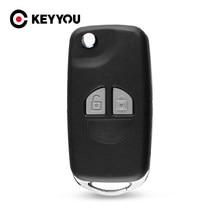 KEYYOU – télécommande repliable pour SUZUKI SX4 Swift, 2 boutons + bouton