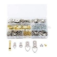 270 pces picture cabides sawtooth d-ring imagem pendurado kit com parafusos, imagem pendurado ferragem para fotos & decoração de casa