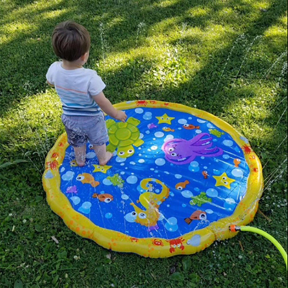 Outdoor Water Game Mat Activity Toddlers Baby Pool Baby Swimming Pool Spray Mat Play Mat Sprinkler Kids Toy