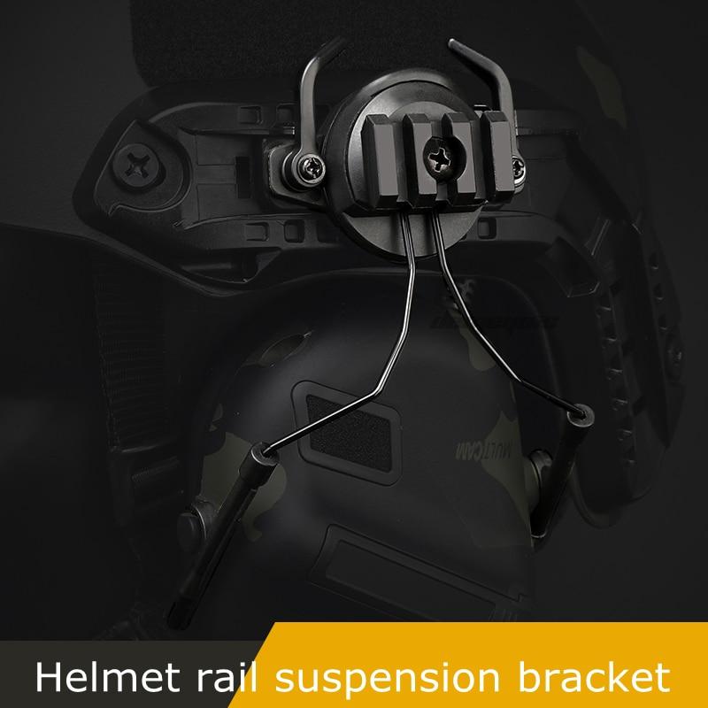 Тактические крепления с быстрым Рельсом переходник для гарнитуры комплект держателей для гарнитуры вращающийся на 360 градусов кронштейн для шлема-4