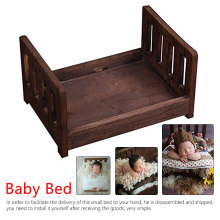 Baby Photography Props Photo Studio Crib for Shoot Posing Sofa Newborn Wood Bed