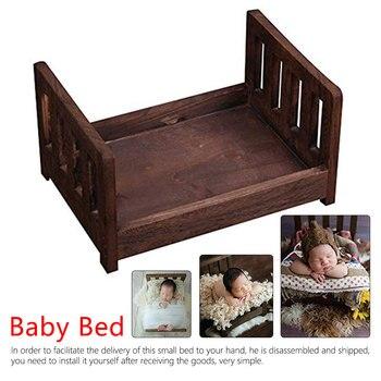 Baby Photography Props Photo Studio Crib for Shoot Posing Sofa Newborn Wood Bed