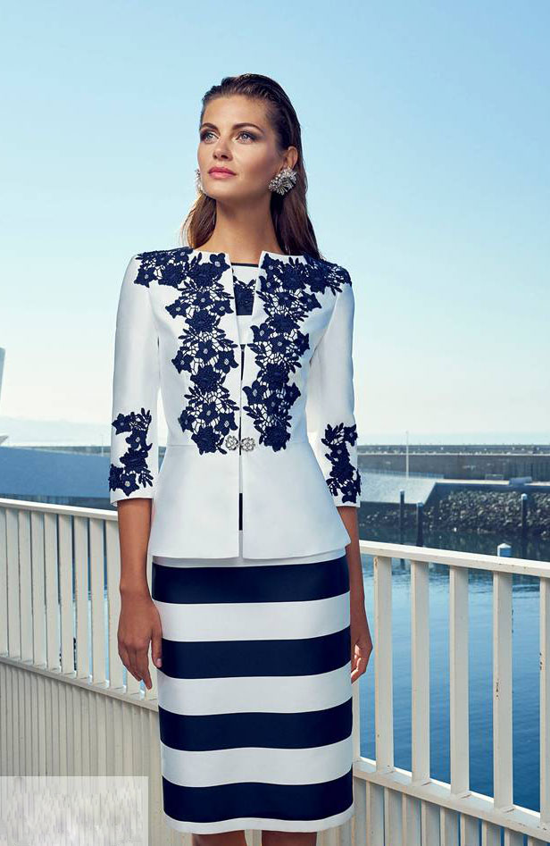 Tailor Shop Custom Made Navy Blue Lace Jacket And Dress Mother Of The Bride Dress Wedding Dress Mother Mother Of Bride Suit