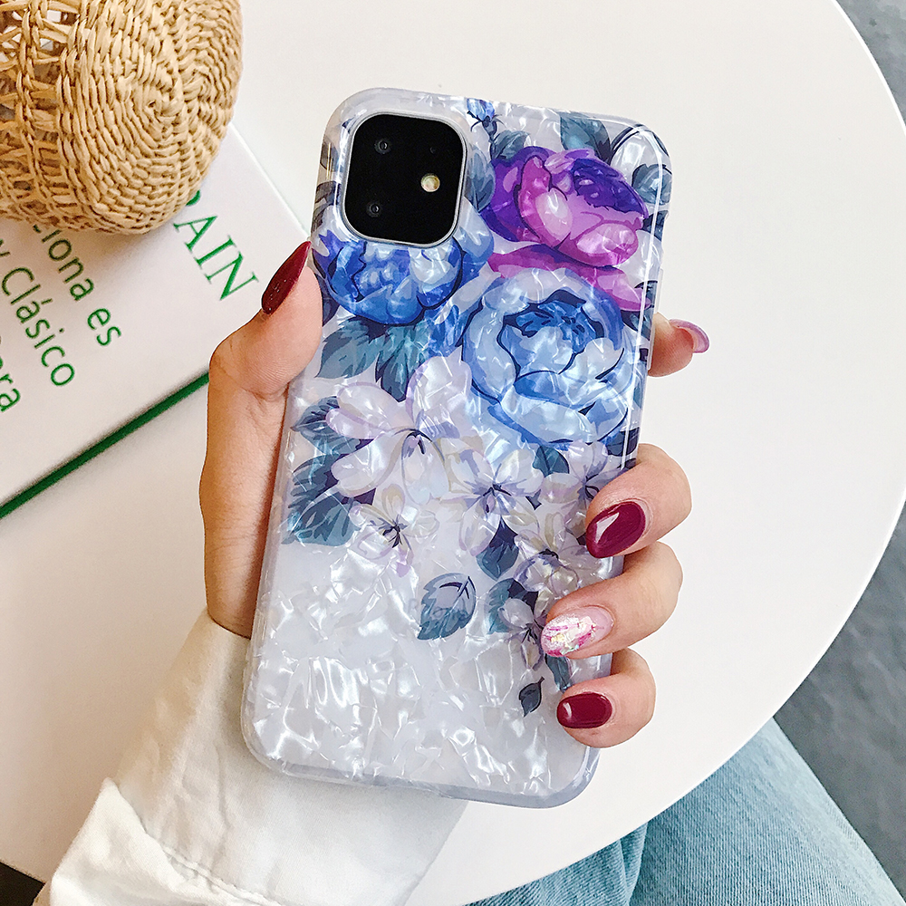 LOVECOM Retro Floral Ring Stand Phone Case For iPhone Models 22