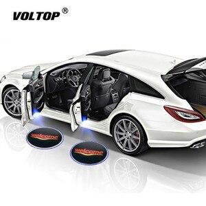 Image 1 - 1pcs Universele Auto Led Auto Deur Lamp Draadloze Auto Deur Licht Projector LED Laser Lamp Auto Accessiories