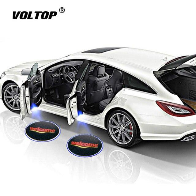 1pcs Universele Auto Led Auto Deur Lamp Draadloze Auto Deur Licht Projector LED Laser Lamp Auto Accessiories