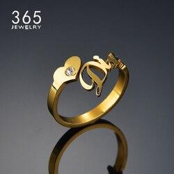 Spersonalizowany pierścień dostosowany rozmiar pierścień nazwa pierścienie ze stali nierdzewnej kobiety regulowany kamień urodzenia prezenty Anillos darmowa wysyłka