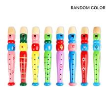 Красочная деревянная труба обучающая детская игрушка подарок легкий деревянный музыкальный инструмент развивающая музыкальная игрушка труба