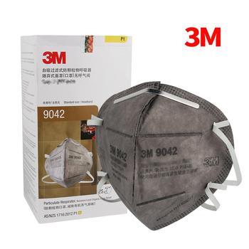 5/25 Uds 3M 9042/9542 máscaras de respirador Anti-polvo partícula de Vapor orgánica PM2.5 proteger filtro de carbón activo máscara de cara montada en la cabeza