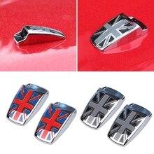 1pair UK Design Style Car Window Wiper Washer Spray Nozzle Covers For MINI Cooper R55 R56 R57 R58 R59 F56 F55