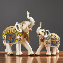 Statues for Decoration Decorative Elephant Sculpture Home Decoration Exhibition Sculpture 1 Pc Resin Statue Home Accessories