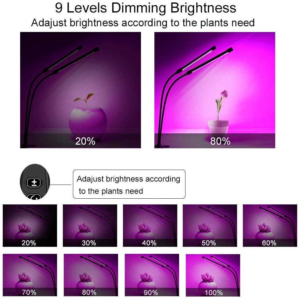 L'usine de LED élèvent la lumière 18W 27W 36W minuterie lampe Phyto pour 9 plantes à intensité variable lumières de plante à spectre complet pour les semis de plantes d'intérieur